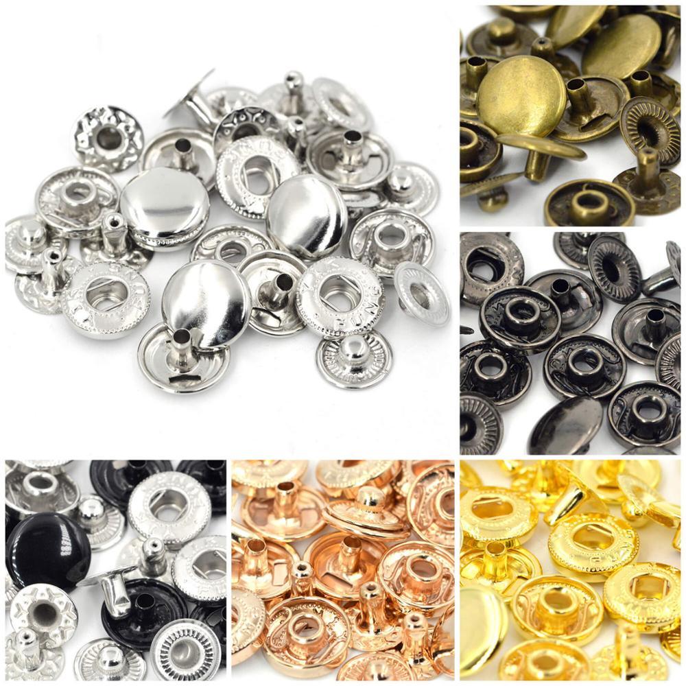 Kalaso 50 наборов 10 мм 12,5 мм 15 мм Металлические пресс-гвоздики шитье Кнопка крепеж кожаные ремесленные сумки для одежды Одежда Diy принадлежности