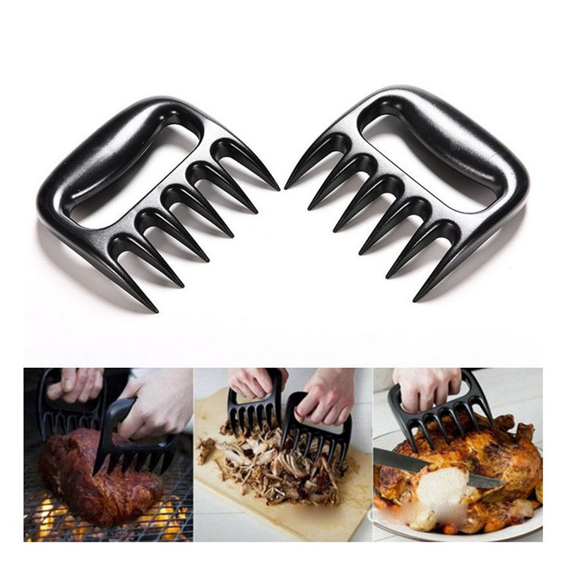 New 1pc Bear Claws Barbecue Fork For Meat Shred Pork And Clamp Roasting Fork Tool For Kitchen