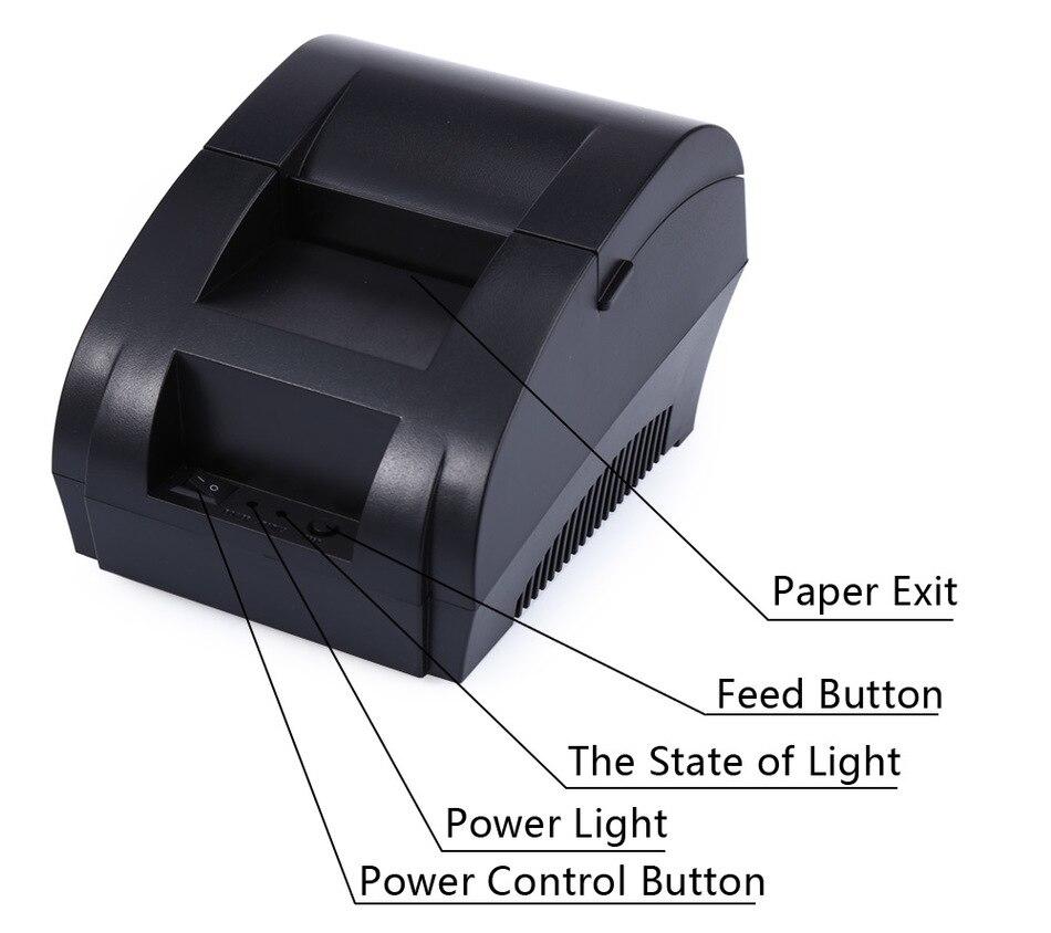 JP-5890k 58mm Schwarzer Thermobondrucker 58mm Thermodrucker 58mm USB - Büroelektronik - Foto 6