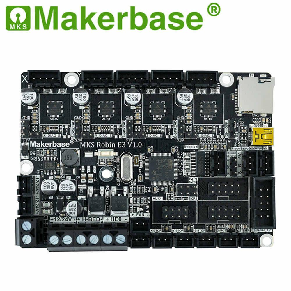 Creativity MKS Robin E3 E3D 32Bit Tablero de Control piezas de impresora 3D con TMC2209 UART controlador de modo para Creality Ender 3 CR-10