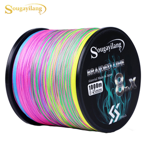 Sougayilang New 9 Strands Strong PE Fishing Line 300M 500M 1000M Strong Abrasion Resistance Multifilament Fishing Line Pesca