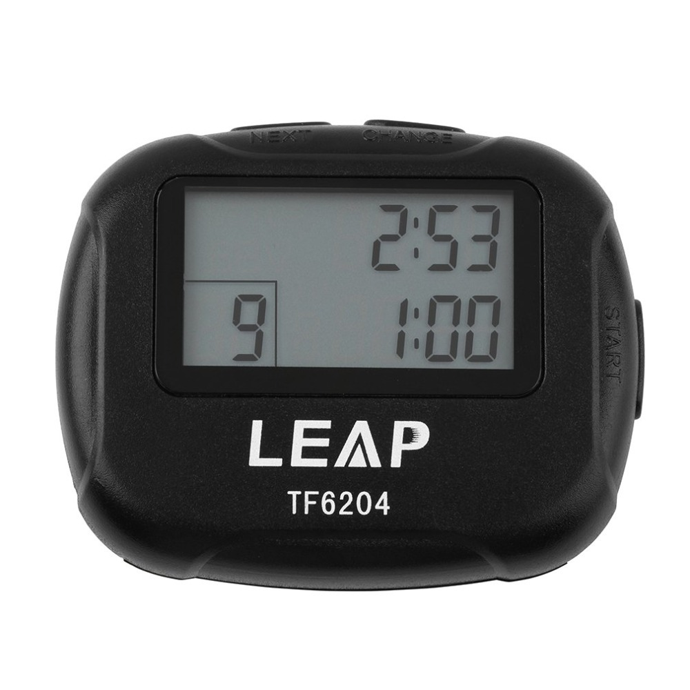 Interval Timer Sports Crossfit Boxing Yoga Segment Stopwatch TF6204 Black Interval Timer Chronograph Eletronic