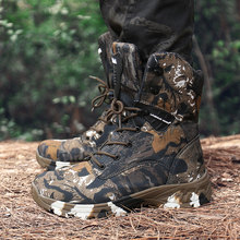 Waterproof Men Military Tactical Boots Outdoor Camouflage Desert Boots High Top Hiking Shoe Men Sneakers Autumn Winter Work Shoe