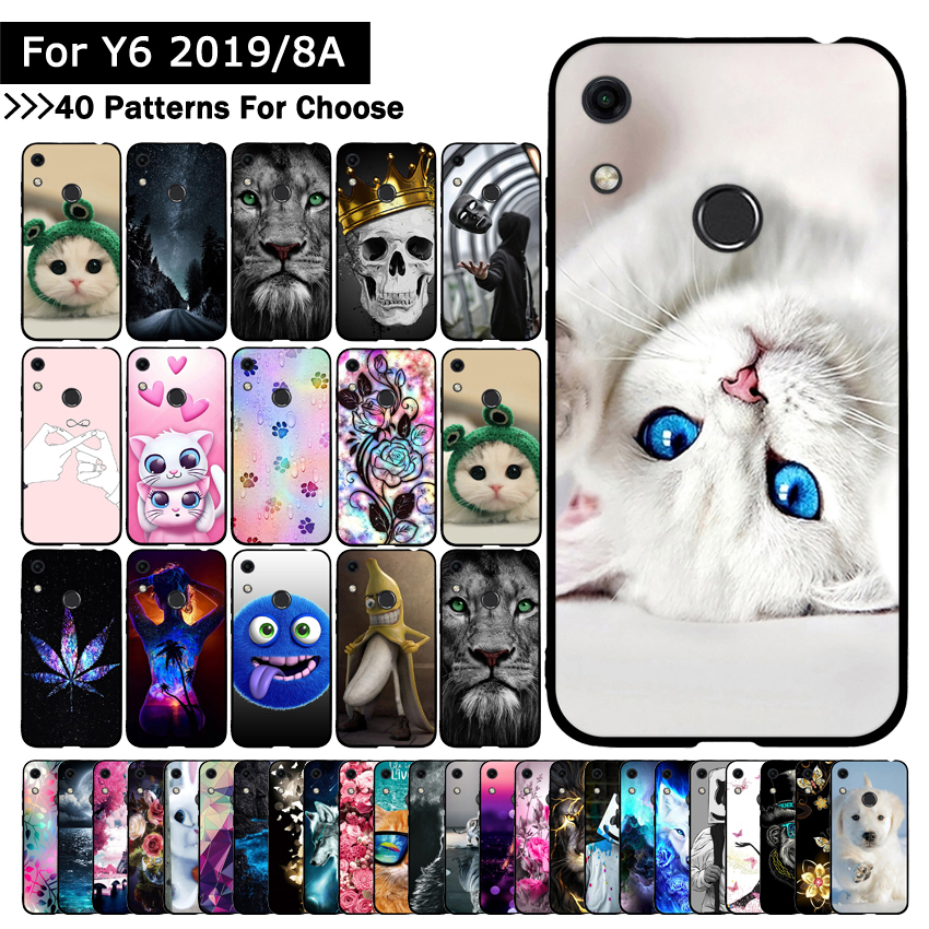 Silicon TPU Case For Huawei Honor Play 8A Cover Colorful Ultra-thin Cases Back Phone Shells For Huawei Y6 2019 /Y6 Prime (2019)