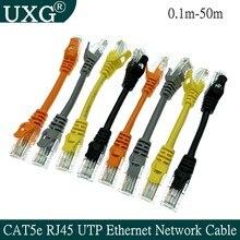 10cm 30cm 50cm cat5e ethernet utp rede macho ao cabo masculino gigabit cabo de remendo rj45 trançado par gige lan cabo curto 1m 2m 30m