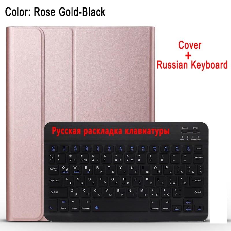 Russian Keyboard Pink Case Keyboard For Apple iPad 10 2 2019 7 7th 8th Gen Generation A2197 A2200 A2198