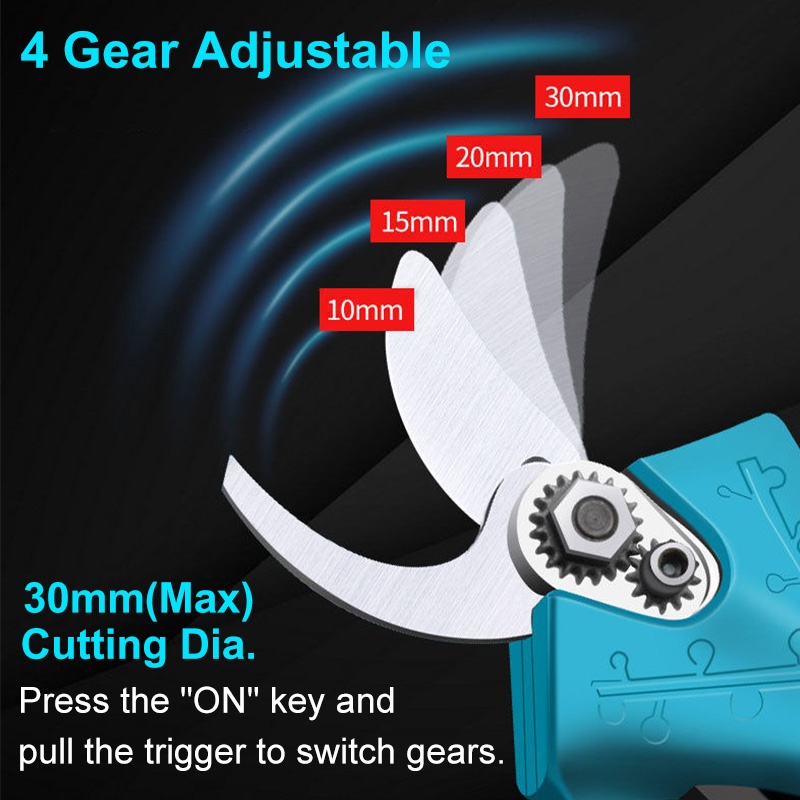 For 30mm 18V Electric Professional Tree Shear Makita Cordless Pruner Cutter Pruner Efficient Pruning Battery Shears Branch