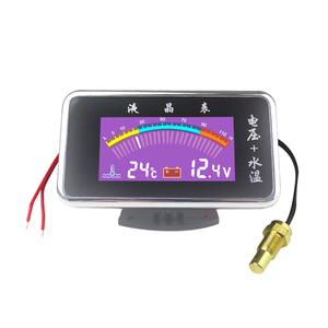 Image 1 - High precision Digital Car Thermometer DC 9V 36V Universal LED Water Temperture Gauge meter with Sensor Free Shipping
