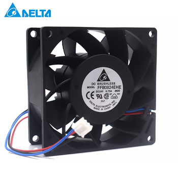 Original Delta FFB0824EHE 8038 80x80x38mm 8cm DC 24V 0.75A 3 Line Double Ball Bearing Cooling Fan f6025e24b 6cn 24v 0 125a mechatronics 3 wire double ball inverter fan