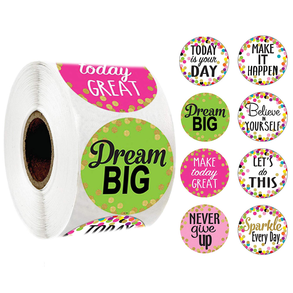 500pcs Roll Confetti Positive Sayings