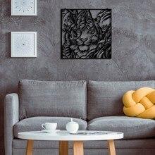 Бенгальский Тигр металлический настенный стол