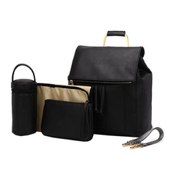 High Quality PU Leather Mom Dad Diaper Bag Backpack Large Capacity Baby Bags For Mom Backpack Maternity Bag mochila maternidade