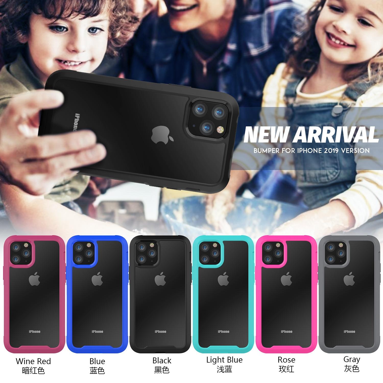Para iPhone 12 11 XR XS Max 8 7 Plus a prueba de golpes a prueba híbrida del teléfono de la armadura caso para iPhone 11Pro Max 6S Plus duro del TPU de la PC 2 in1 de la cubierta completa 6