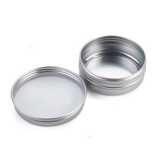 Image 3 - 100pcs x 5g 10g 15g אלומיניום עגול שפתון פח מכולות עם בורג מכסה חוט נהדר עבור תבלינים, סוכריות, תה או הענקת מתנות