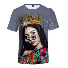2021 Hot Sale Men/Women Fashion Casual Eva Queen 3D Printed T-Shirt Popular Harajuku Streetwear Short Sleeve Oversize Tops