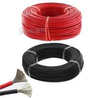 10 meter/los Hohe Qualität 5m rot und 5m schwarz farbe draht silikon 10 12 14 16 18 20 22 24 26 AWG silikon kabel