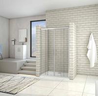 Shower door for 2 fixed sheets and 2 corridor doors, 5mm tempered glass