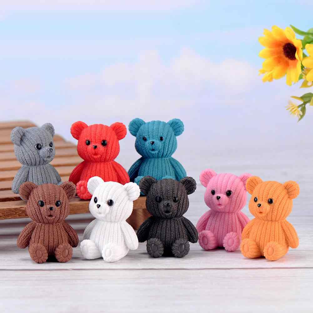 Lovely Bear Model Toy for Kids Figurine Miniatures Figurines  DIY Craft Miniature Fairy Garden Desktop Ornement Home Decor