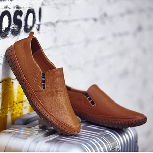 Image 4 - Genuine Leather Casual Slip On Mens Moccasins Men Shoes Loafers Mocassin Homme Footwear Man Topsiders High Quality Plus Size