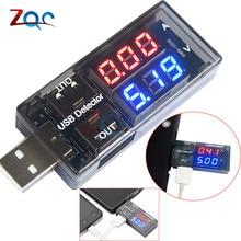 Двойной светодиодный вольтметр, амперметр, 100 В постоянного тока, 10 А, измеритель напряжения тока, USB зарядное устройство, детектор напряжения для автомобиля, мотоцикла