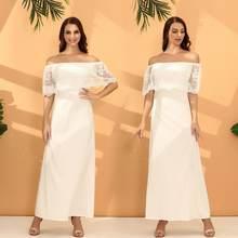 Женское однотонное пляжное платье с оборками повседневное Элегантное