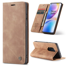 Luxury Leather Magnetic Flip Case For Oneplus 8 Phone Case For Oneplus 7 Pro Retro Wallet Book Card Holder Stand Cover Funda