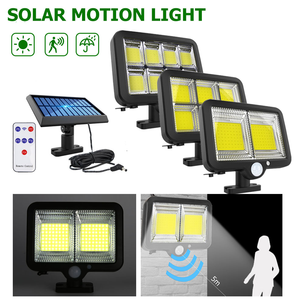 Remote Control LED Solar Wall Light Human Motion Sensor Waterproof Outdoor Security Lamp for Garden Yard Pathway Street Light