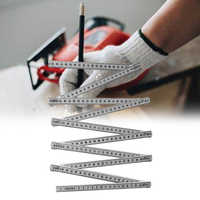 Portable Multi Function Folding Ruler Woodworking Measuring Tools School Scratch Resistant Stationery Home Teaching Anti Rust
