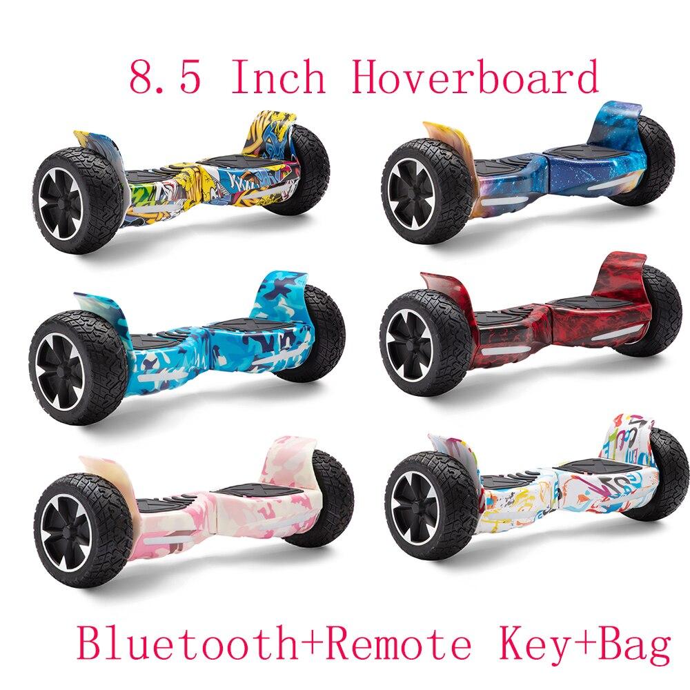 8.5 Cal Hoverboard Off-road Self Balancing skutery terenowe skutery elektryczne dwa koła Balance Skateboard prezenty dla dzieci + torba