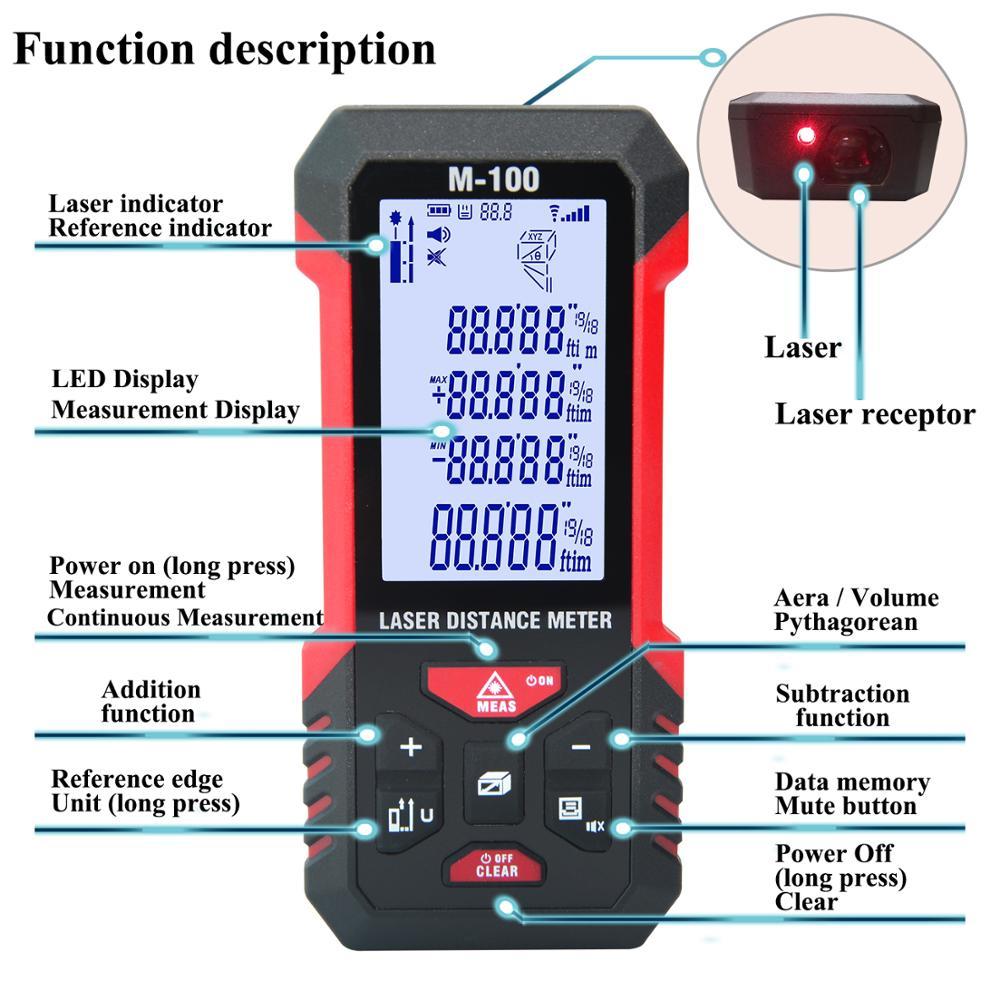 Купить лазерный дальномер teclaser цифровой лазерный 40 м 60 100 измерительная