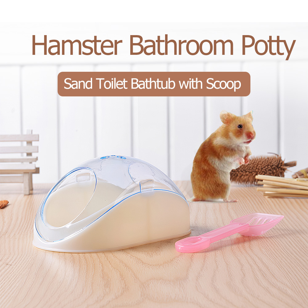 Hamster Bathroom Potty Sand Toilet Bathtub With Shovel For Hamster Mouse And Other Small Pets