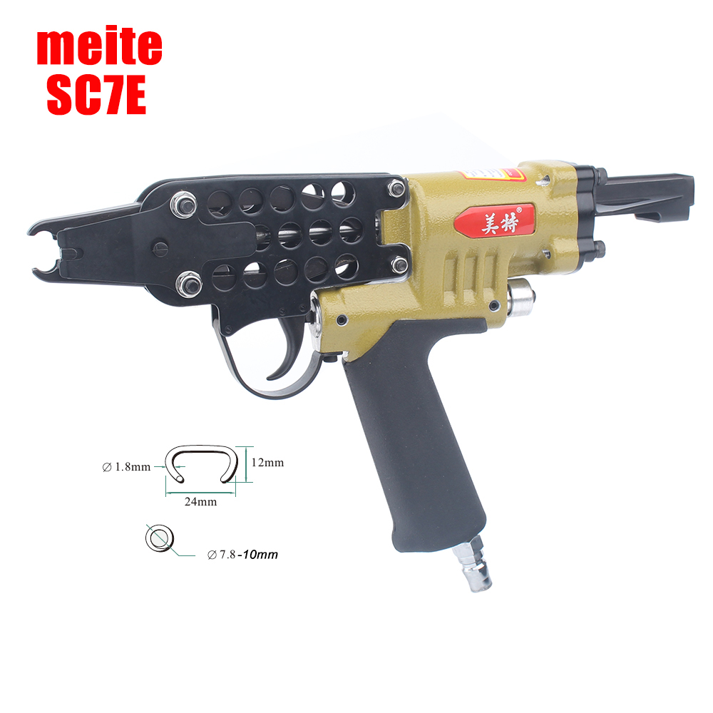 Meite SC7E Pneumatic C Ring Nailer Cage Stapler Nail Gun