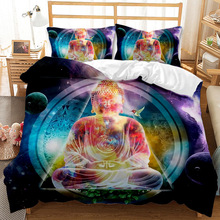 Handdraw Budha 3D Art Duvet Cover Set King Queen Double Full Twin Single Size Bed linen set