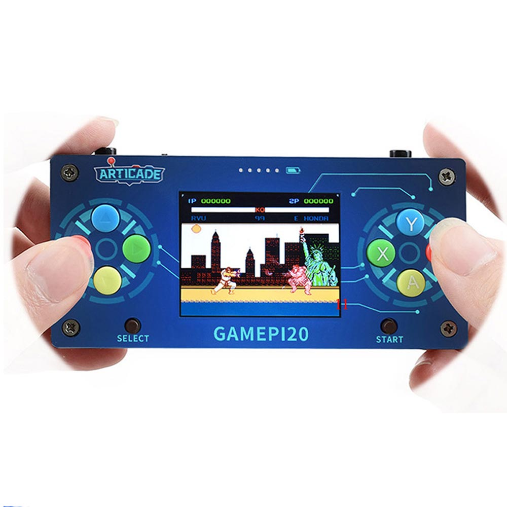 DIY Handheld Game Console With Raspberry Pi Zero Wh 2.0 Inch Screen Gamepi20 Game Player Portable Video Game Consoles