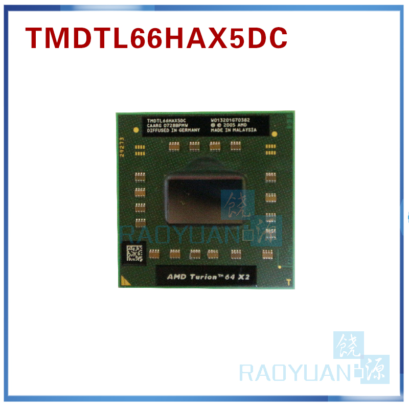 AMD Cpu Laptop Turion TL-66 TMDTL66HAX5DM TMDTL66HAX5DC CPU 2.3GHz/Socket S1 (S1g1)/Dual-Core Laptop Processor Tl66 TL 66