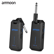 Ammoon AM-5G 5.8G Wireless Gitar Sistem Isi Ulang Audio Transmitter dan Receiver ISM Band Penguat Gitar Aksesoris(China)