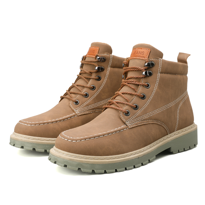 Men Boots Trend Retro Work Boots Martin Boots Ankle Boots Winter Outdoor Walking Shoes Warm Casual Shoes Zapatillas Hombre