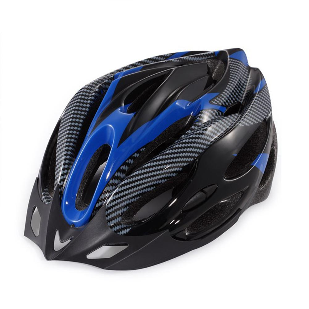 Yiwa Unisex Blue Black Cycling Riding Helmet Universal Nonintegrated Molding Helmet