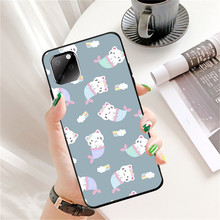 Cute Case for Iphone SE2 11 Pro Max XR Ip7 8Plus 6s XS Cartoon Cat Tpu Silicon Black Case Full Protective Anti Knock Back Cover cute cartoon owl style protective plastic back case for iphone 5c light yellow multicolor