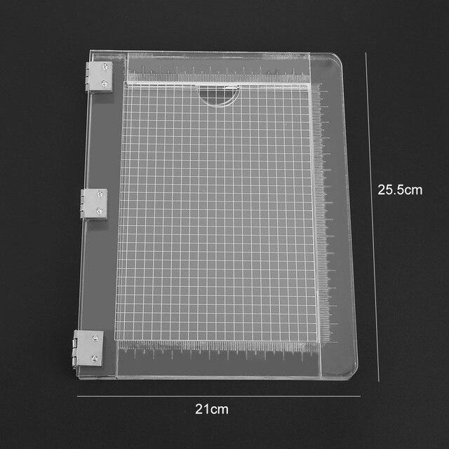 25.5*21cm TỰ LÀM Con Dấu Tem Chặn Cho Thêu Sò Trong Suốt Tay Cầm Cao Độ Trong Suốt Acrylic Miếng Lót Giá Đỡ DIY Trang Trí Dụng Cụ