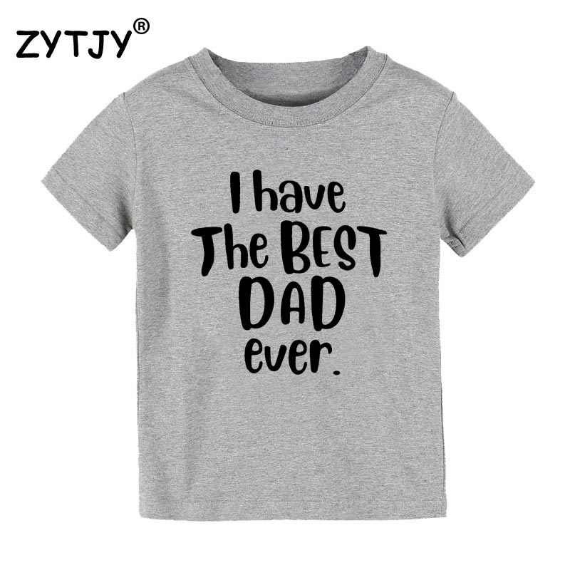 IK heb de beste papa ooit Print Kids tshirt Jongen Meisje t-shirt Voor Kinderen Peuter Kleding Grappige Tumblr Top drop Ship CZ-90
