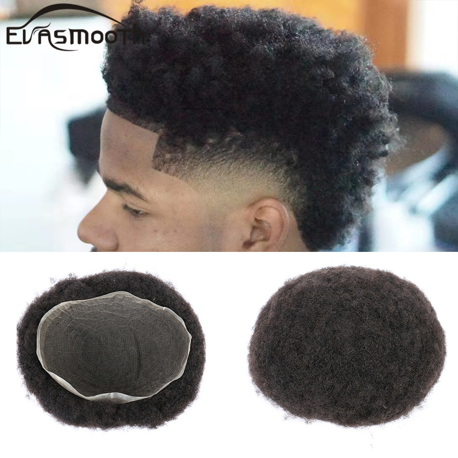 Black Men Toupee Full Swiss Lace Front Wig Afro Kinky Curly Wig Man Toupee Human Hair Male Thin Lace Wig Natural Hair Men Wig