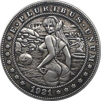 Hobo Nickel 1921-D USA Morgan Dollar COIN COPY Type 151