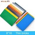 5 stücke DIY Bausteine Dünne Zahlen Bricks 8x16 Punkte 12 Farbe Pädagogisches Kreative Größe Kompatibel Mit 92438 spielzeug für Kinder
