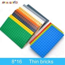 5pcs DIY Building Blocks Thin Figures Bricks 8x16 Dots 12Color Educational Creative Size Compatible With 92438 Toys for Children