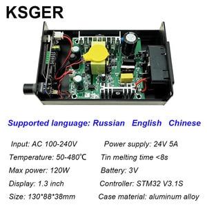 Image 3 - KSGER Estación de soldadura de hierro T12, STM32, V3.1S, OLED, bricolaje, plástico, FX9501, mango, herramientas eléctricas, calentamiento rápido, T12, puntas de Hierro 8s