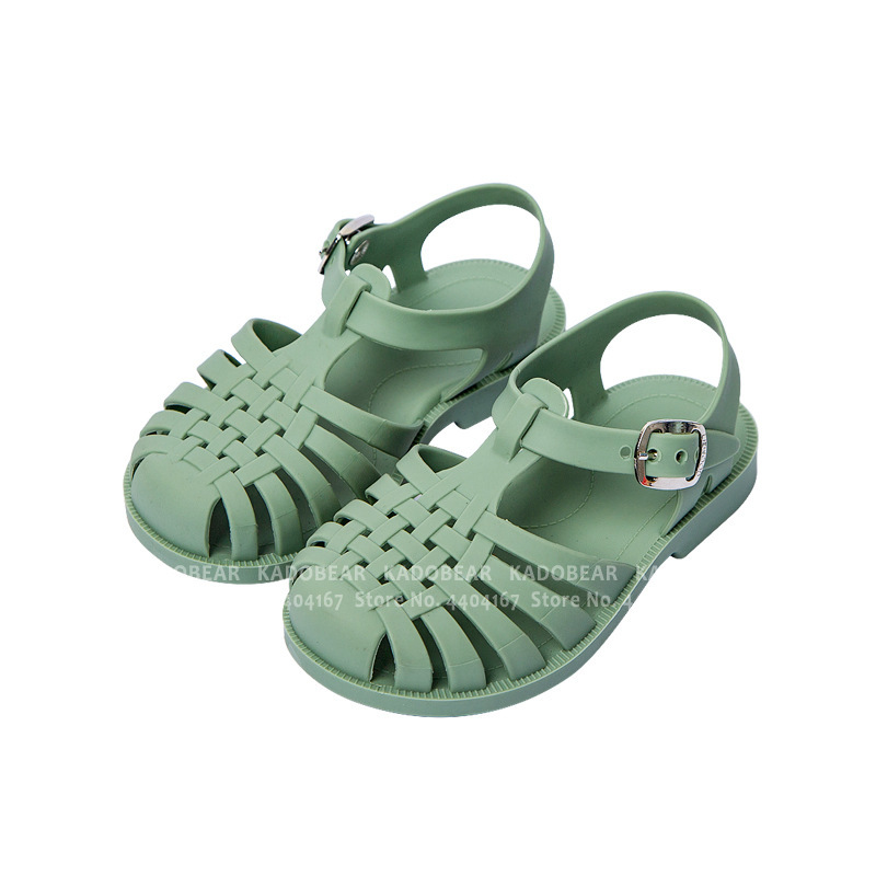 Summer Children Barefoot Sandals For Girl Kids Carnival Party Princess Roman Shoes Non-slip Soft Baby Boy Outdoor Slipper Slides
