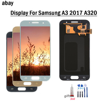 4.7'' LCD For Samsung Galaxy A3 2017 A320 A320F A320M A320Y LCD Display Touch Screen Digitizer Assembly Free Tools Glue A3 2017
