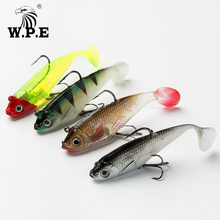 W.P.E New Soft Lure 3-4pcs/pack 8/10/12/14cm Lead Head Fishing 15g-42g Tackle Swimbaits Silicone Bass Jig Fish