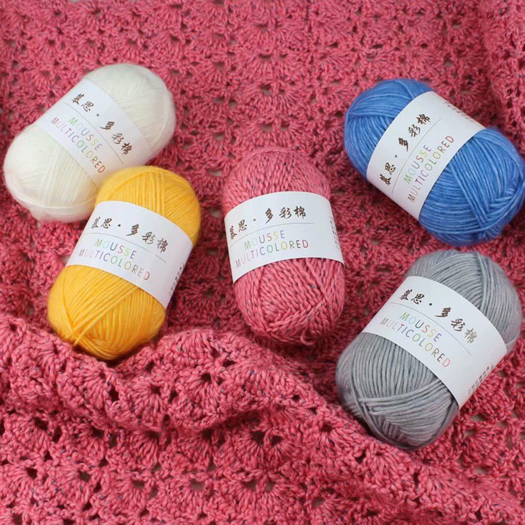 100g Antistatic Colorful Cotton Suede DIY Scarf Line Hand-Knotted Needle Coat in Thick Wool No Hair No Drop